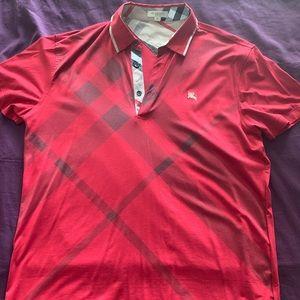 Men's Burberry Polo Shirt. Size -XL